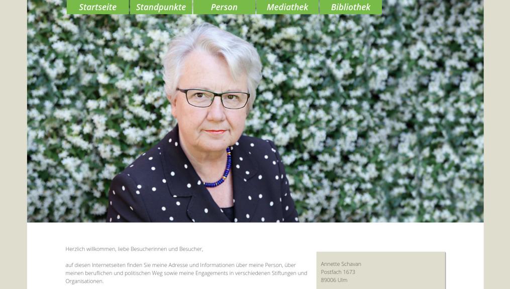 Prof. Dr. Annette Schavan